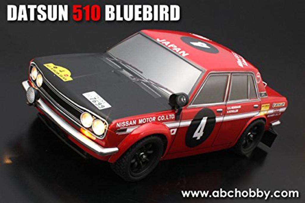 1/10 Mini Datsun 510 Bluebird Rally Clear Body