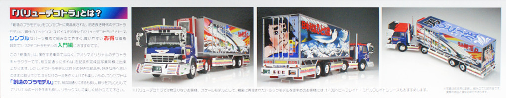 Aoshima 07587 Japanese Reefer Trailer Truck Zecho Maru 1/32 Scale Kit