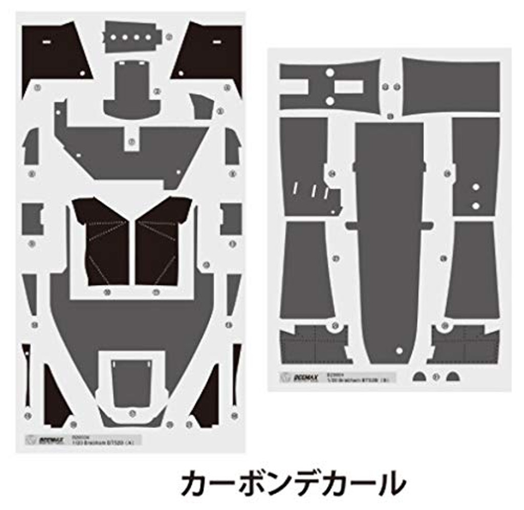Aoshima 06334 Brabham BT52B Detail Up Parts 1/20 Scale Kit