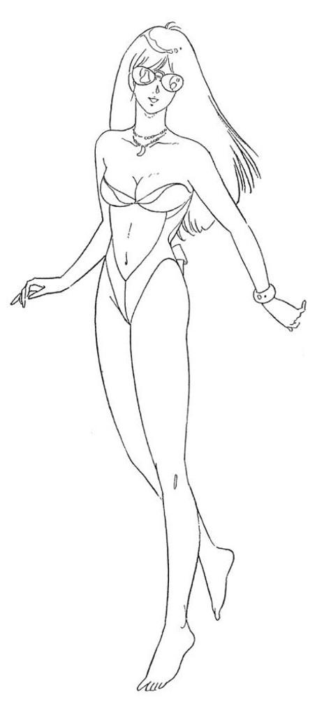 Hasegawa 64777 Crusher Joe Minerva (OVA Ver.) w/Alfin Figure 1/12 Scale Kit