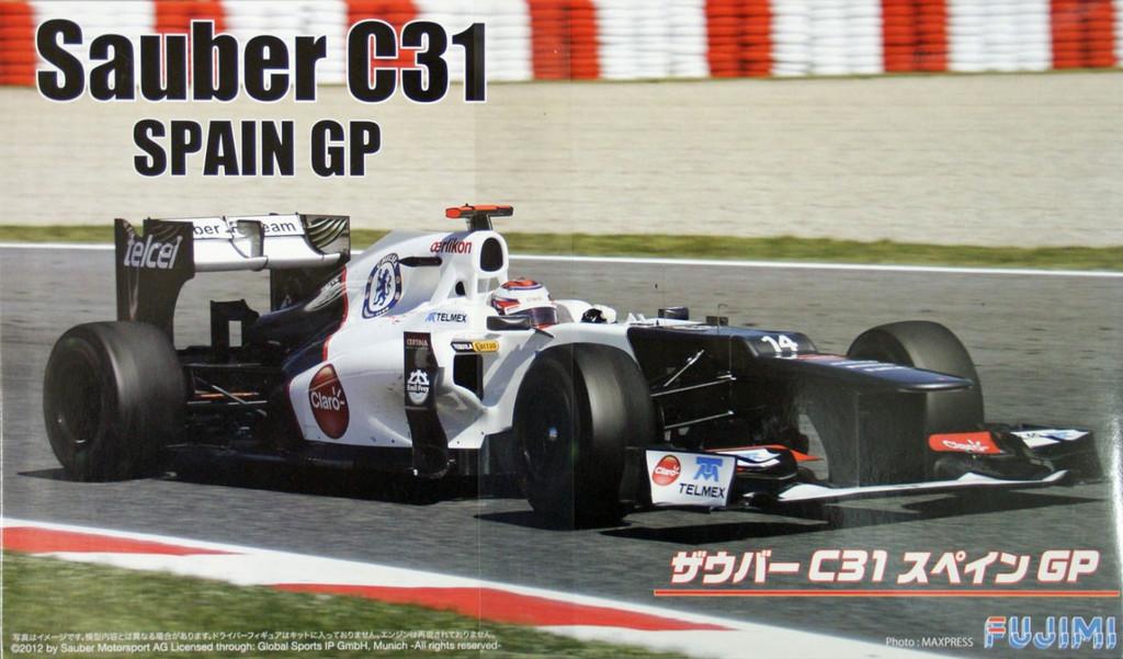 Fujimi GP SP27 F1 Sauber C31 Spain GP with 1/8 Scale Helmet 1/20 Scale Kit