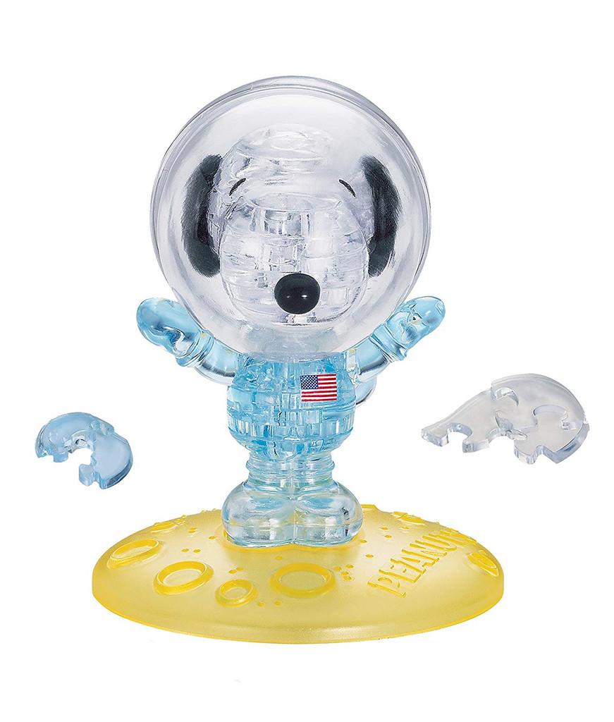 Beverly Crystal 3D Puzzle 485636 Snoopy Astronaut (35 Pieces)
