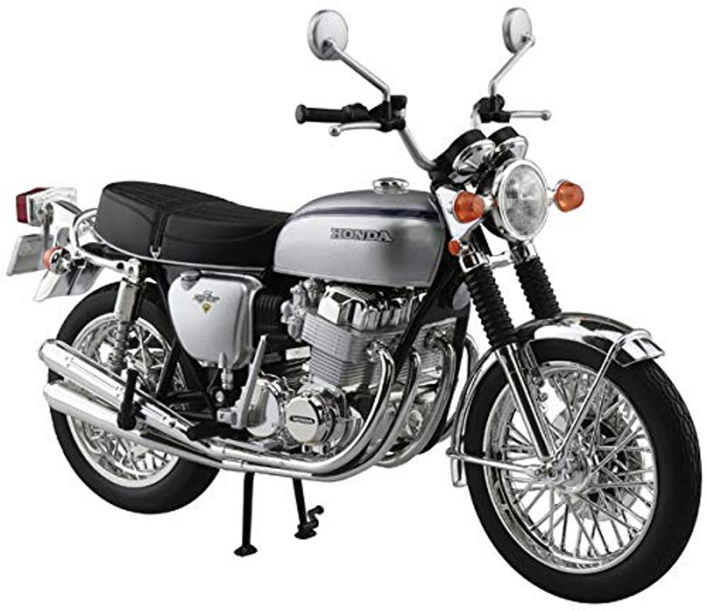 Aoshima Skynet 06587 Honda CB750FOUR (K2) Silver 1/12 Scale Finished Model