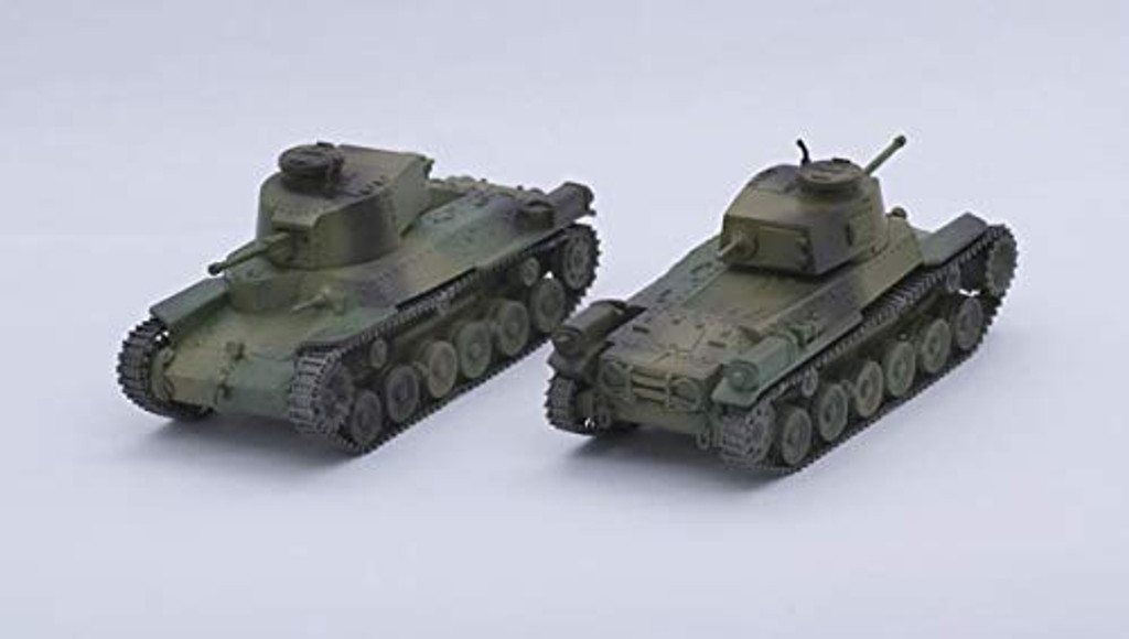 Fujimi SWA32 IJA Type 97 Medium Tank Chi-Ha Kai (2pcs)1/76 scale kit