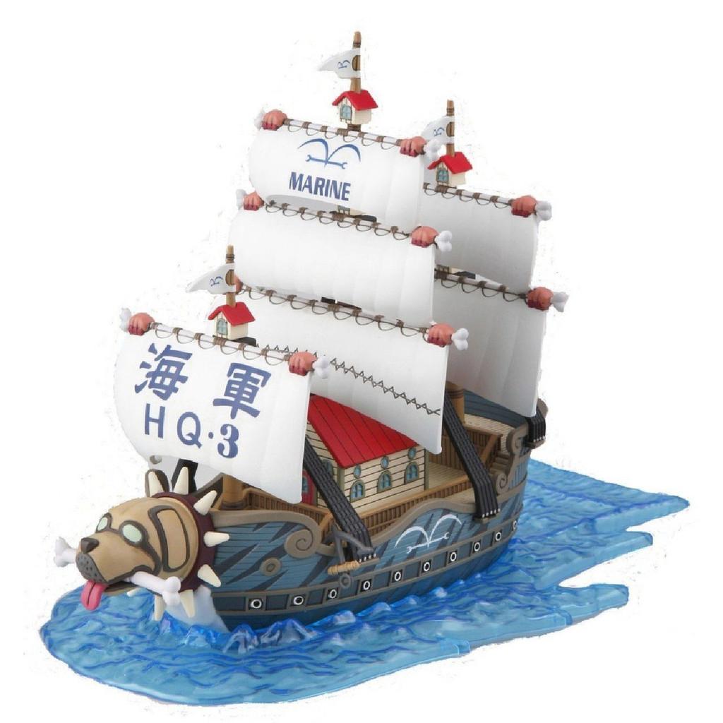 Bandai One Piece Grand Ship Collection 08 Garp's WarShip (Plastic Model Kit)