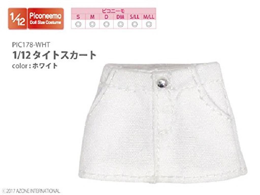 Azone PIC178-WHT 1/12 Tight Mini Skirt White