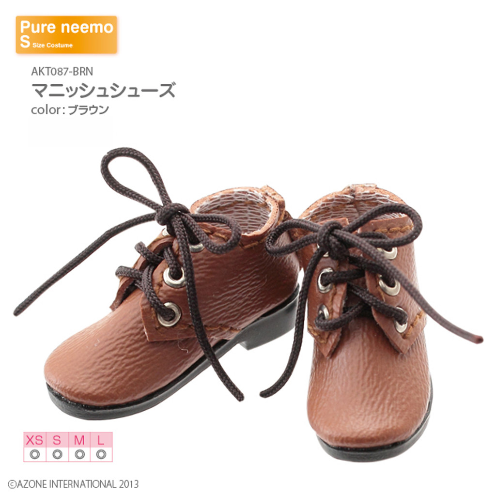 Azone AKT087-BRN Pure Neemo XS-L 1/6 Mannish Shoes (Brown)