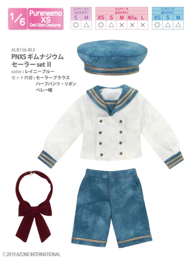 Azone ALB156-BLE PNXS Gymnasium Sailor Suit School Uniform Set II (Rainy Blue)