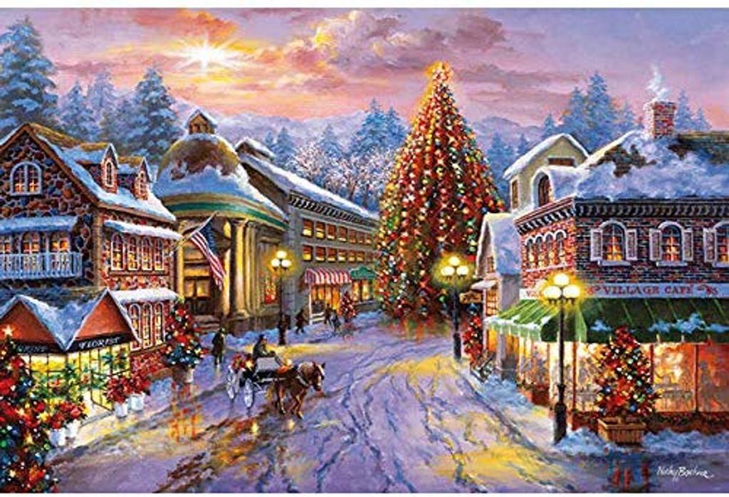 APPLEONE Jigsaw Puzzle 1000-843 Nicky Bohem Winter Carol (1000 Pieces)