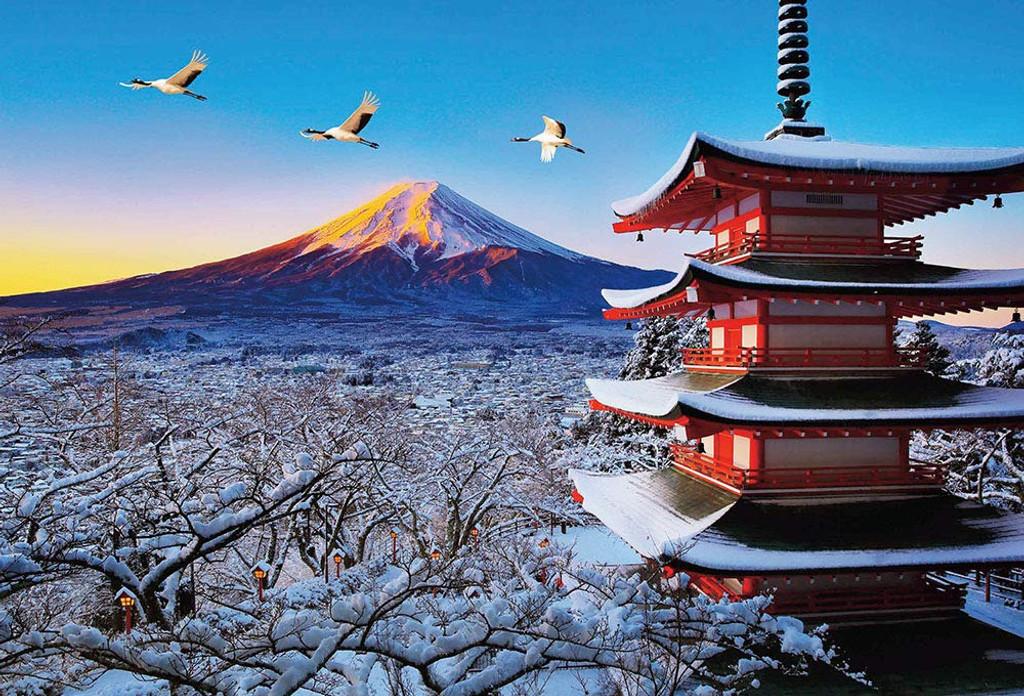 Beverly Jigsaw Puzzle 51-259 Mount Fuji, Crane & Asama Shrine (1000 Pieces)