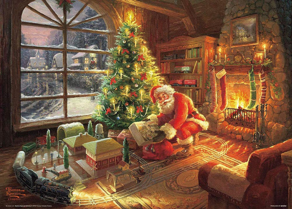 Beverly Jigsaw Puzzle 66-134 Thomas Kinkade Santa's Special Delivery (600 Pieces)