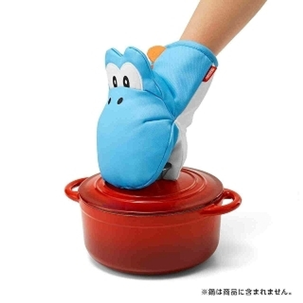 Nintendo Super Mario Home & Party Oven Mitten & Pot Stand (Light blue Yoshi)