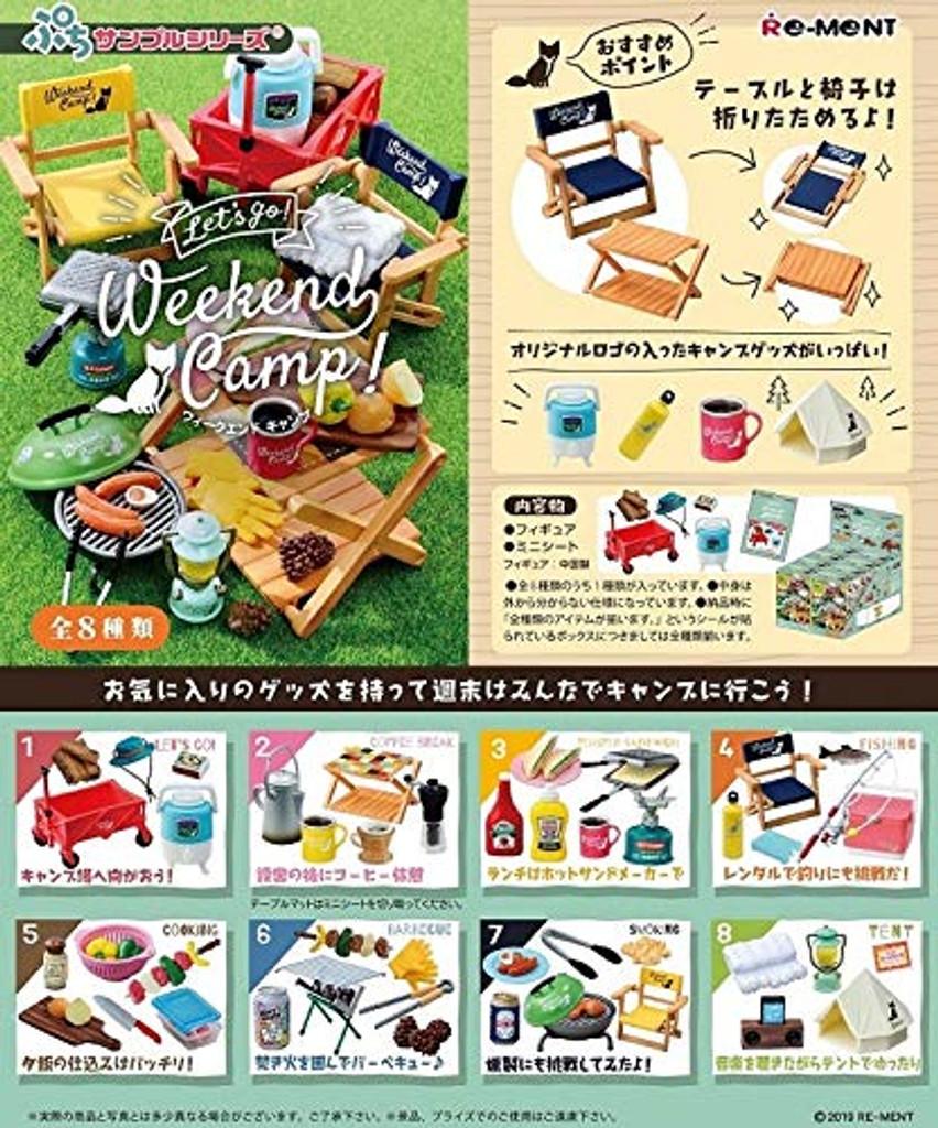 Re-ment Let's Go! Weekend Camp! 1 BOX 8 Pcs Set