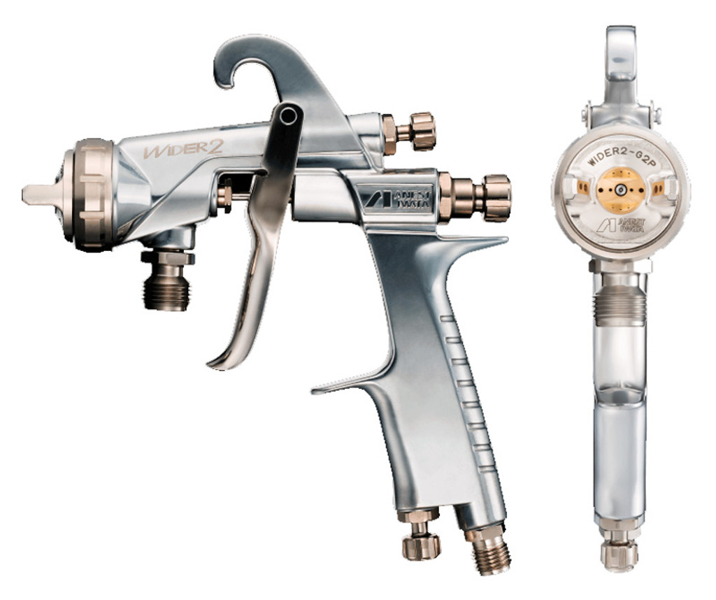 Anest Iwata WIDER2-25W1G Gravity Feed Portable Spray Gun 2.5mm Nozzle