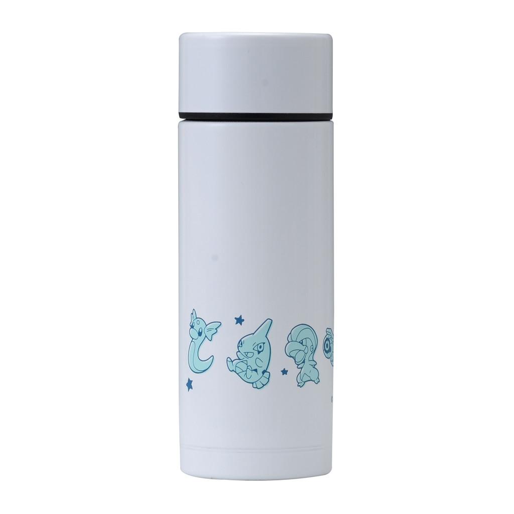 A stainless steel Pokemon water bottle.