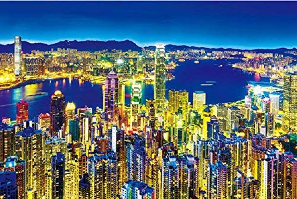 APPLEONE Jigsaw Puzzle 1000-784 Golden Night Hong Kong (1000 Pieces)