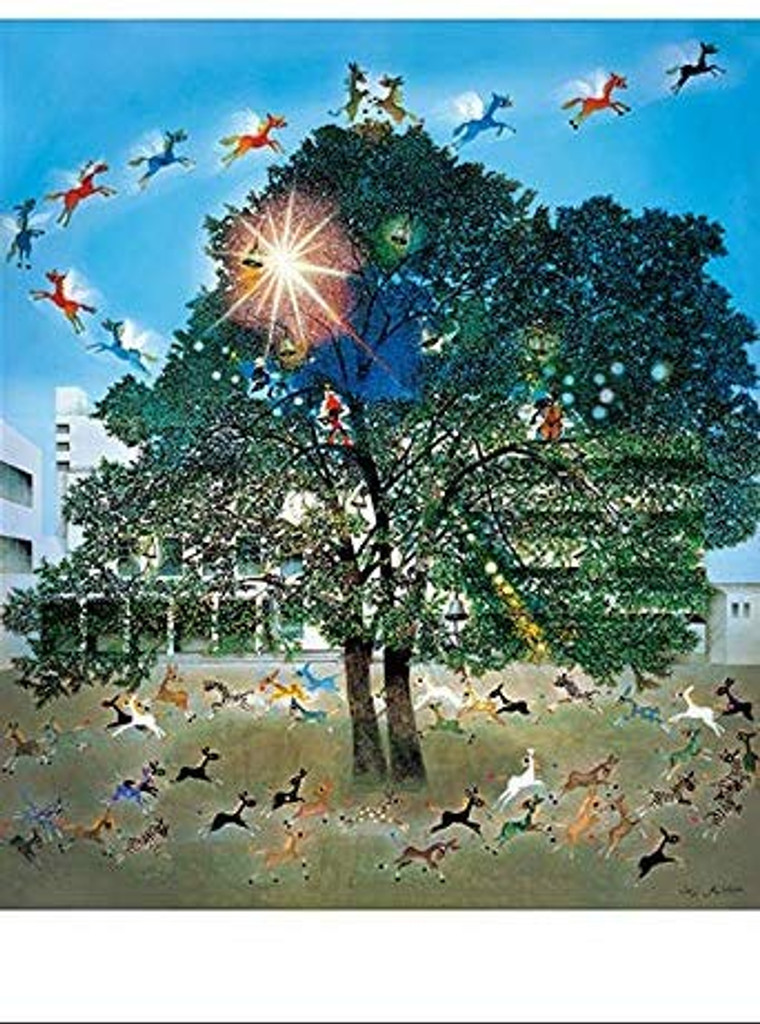 APPLEONE Jigsaw Puzzle 300-294 Foals flying in the light (300 Pieces)