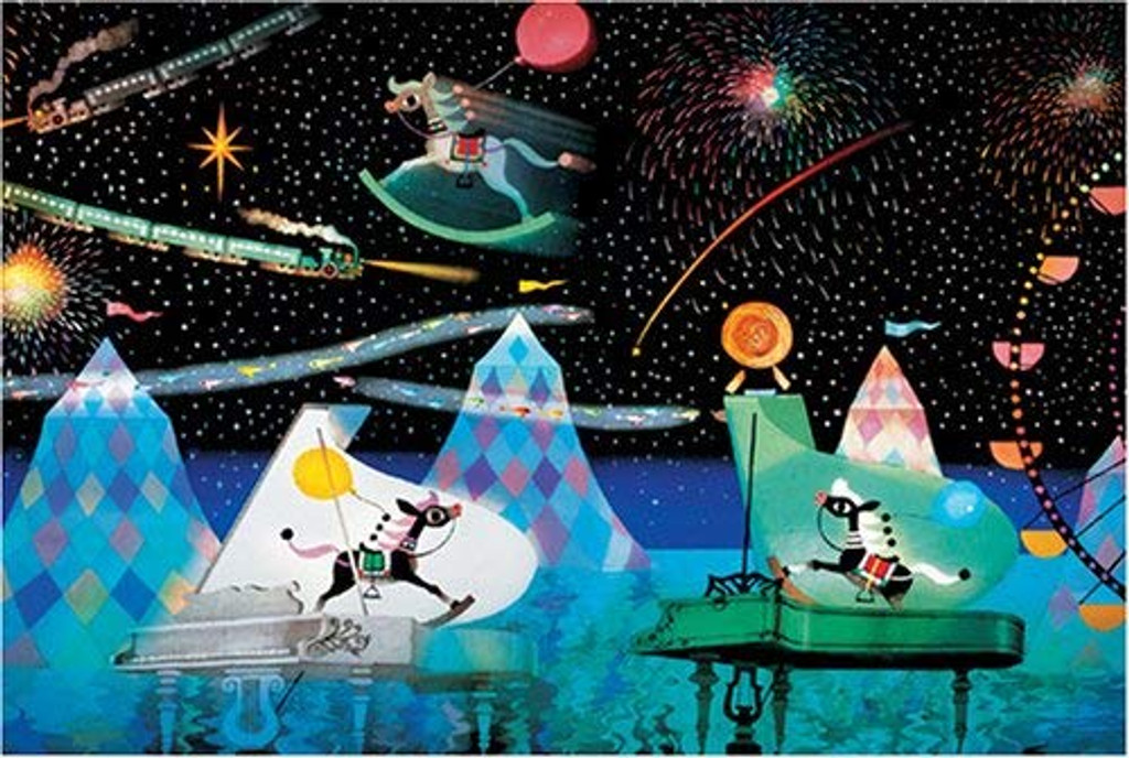 APPLEONE Jigsaw Puzzle 1000-426 Dreams of Merry-Go-Round in the Starry Sky (1000 Pieces)