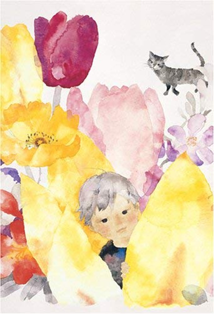 APPLEONE Jigsaw Puzzle 300-507 Chihiro Iwasaki Boy Among the Tulip (300 Pieces)