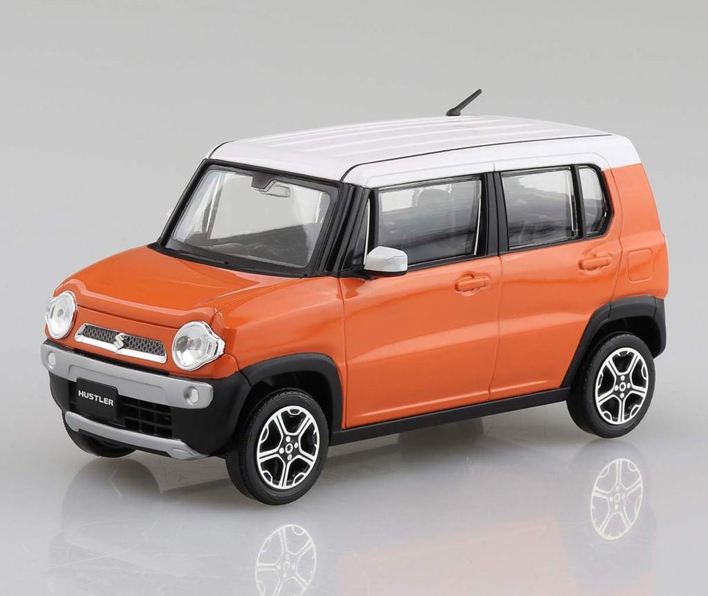 Aoshima 58329 01-C Suzuki Hustler (Passion Orange) 1/32 Scale Pre-Painted Snap-Fit Kit
