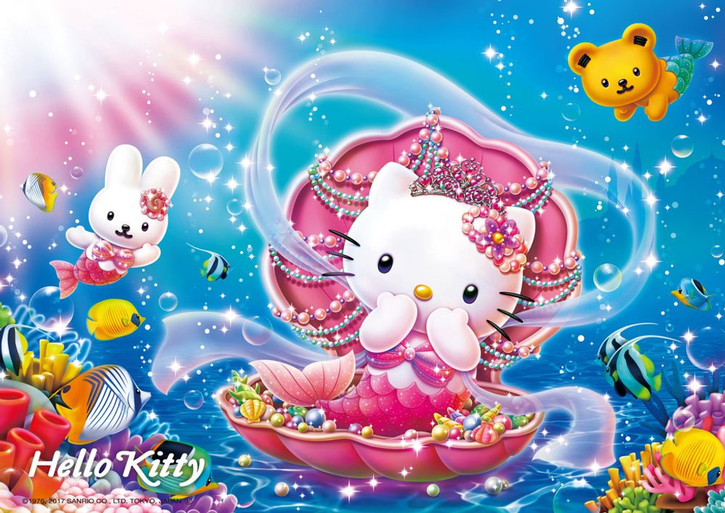 Beverly Jigsaw Puzzle 108-811 Hello Kitty Mermaid Princess Jigsaw (108 Pieces)
