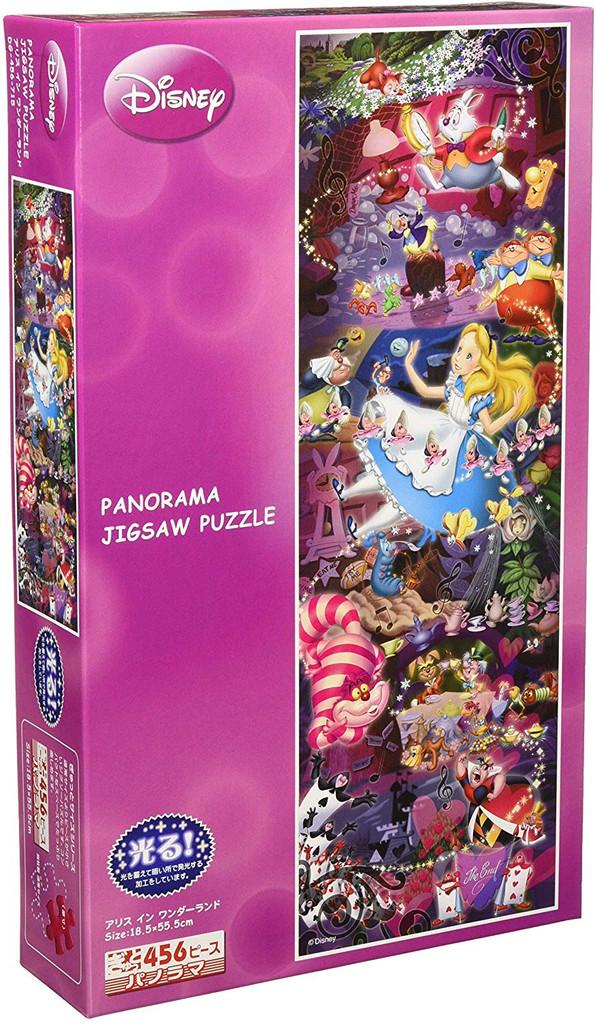 Tenyo Japan Jigsaw Puzzle DG456-715 Glow in the Dark Disney Alice in Wonderland (456 Pieces)