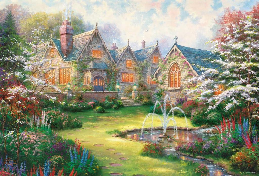 Beverly Jigsaw Puzzle 31-448 Garden Manor Thomas Kinkade (1000 Pieces)