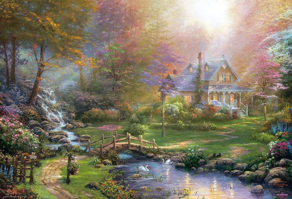 Beverly Jigsaw Puzzle 31-471 Mother's Perfect Day Thomas Kinkade (1000 Pieces)