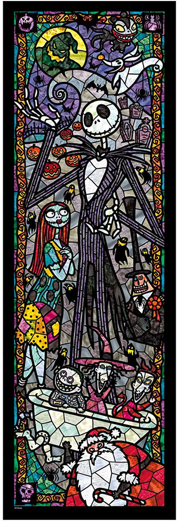 Tenyo Japan Jigsaw Puzzle DSG456-723 Disney Nightmare Before Christmas Stained Glass (456 Pieces)