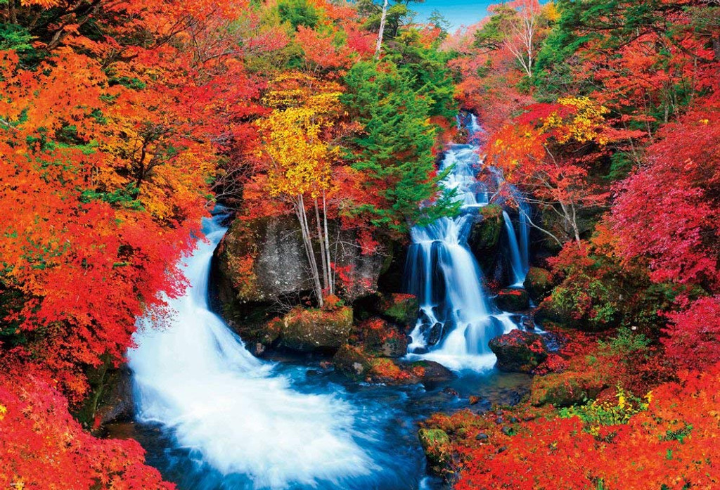 Beverly Jigsaw Puzzle 51-209 Ryuzu Fall in Autumn (1000 Pieces)