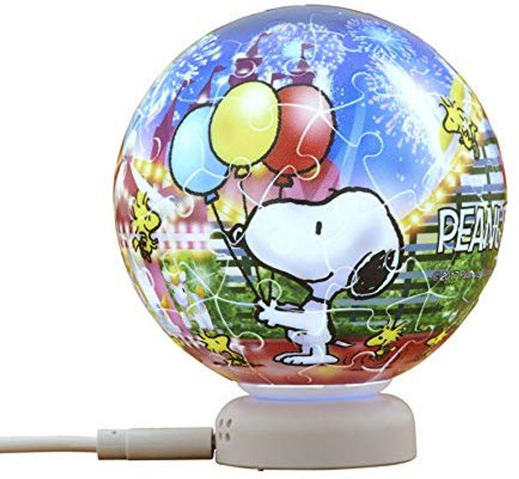 Beverly Crystal Jigsaw Puzzle CJP-052 Peanuts Snoopy at the Night Fair (60 Pieces)