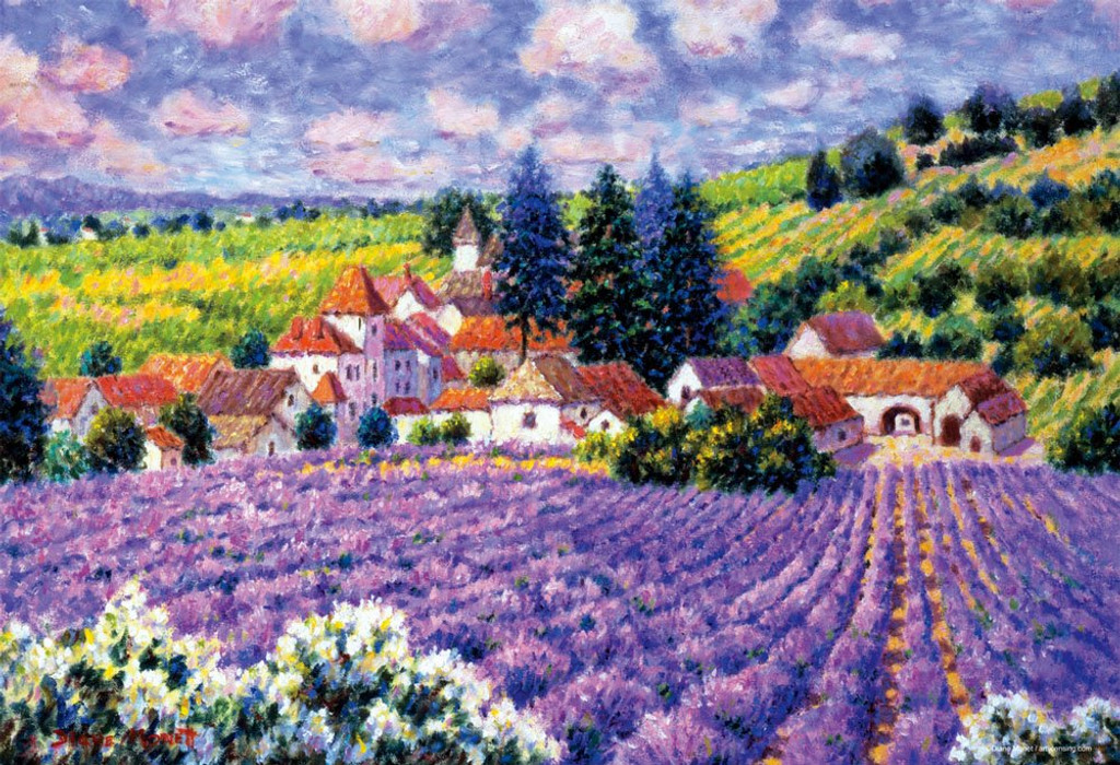 Beverly Jigsaw Puzzle M81-550 Diane Monet Peaceful Village (1000 S-Pieces)