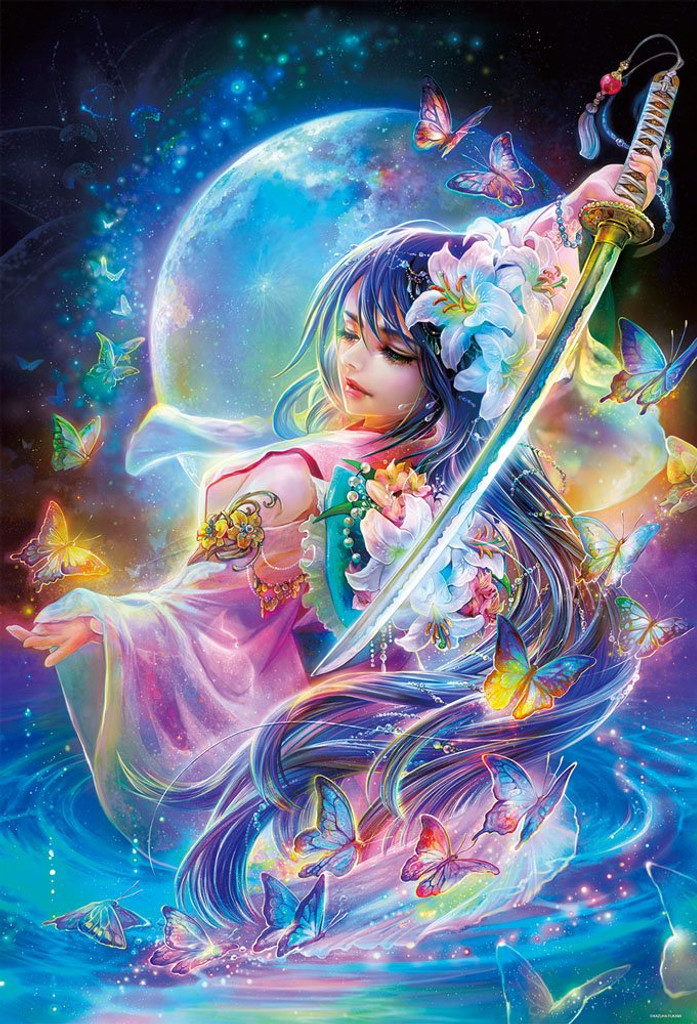 Beverly Jigsaw Puzzle 81-112 Glow in the Dark Dance of the Sword (1000 Pieces)