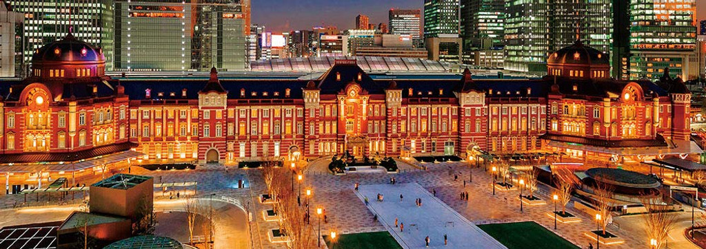 Beverly Jigsaw Puzzle 93-145 Tokyo Station Night View (300 Pieces)
