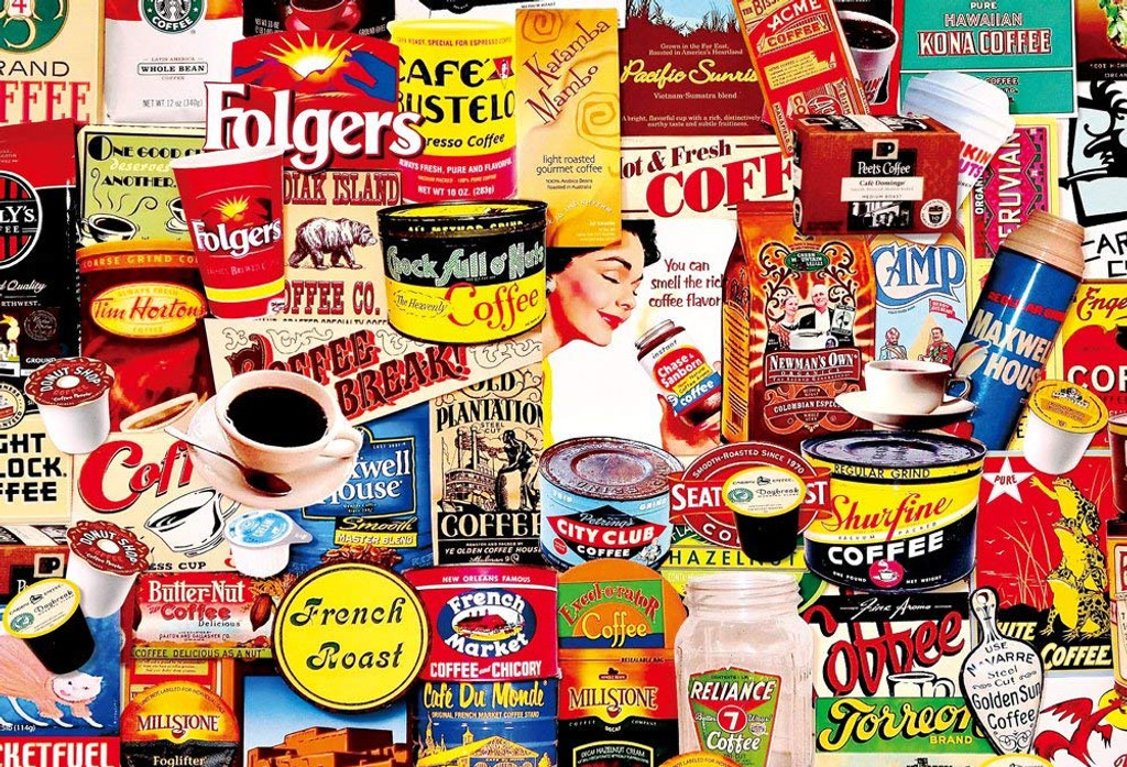 Beverly Jigsaw Puzzle 31-441 Vintage Art Coffee (1000 Pieces)