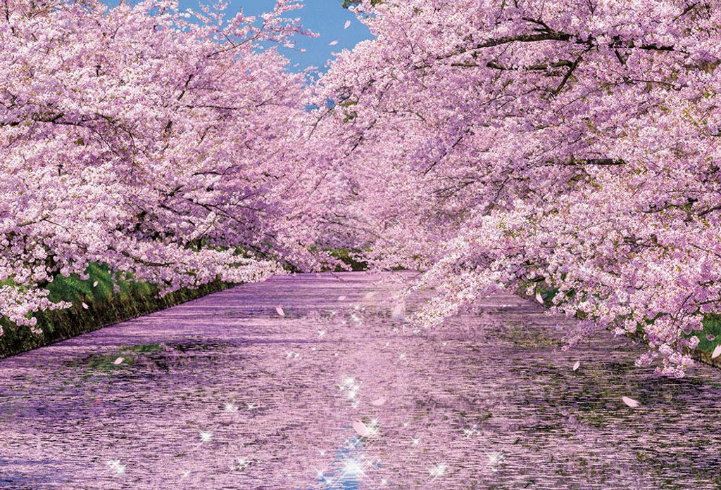 Beverly Jigsaw Puzzle 33-184 Cherry Blossom in Hirosaki Castle Park Aomori (300 Pieces)