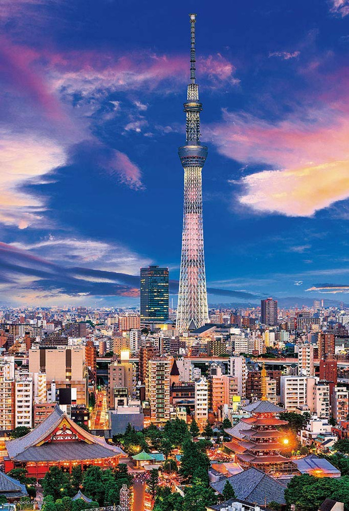 Beverly Jigsaw Puzzle 93-147 Tokyo Sky Tree Twilight View (300 Pieces)