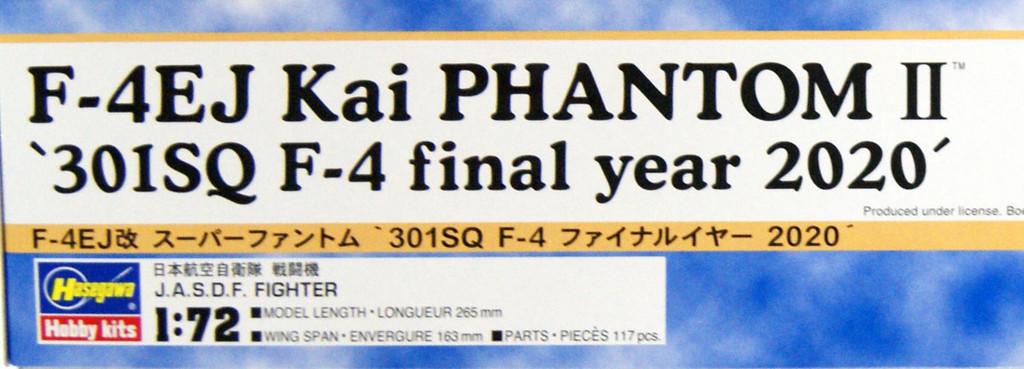 Hasegawa 02319 F-4EJ Kai Super Phantom 301SQ F-4 Final Year 2020 1/72 Scale Kit