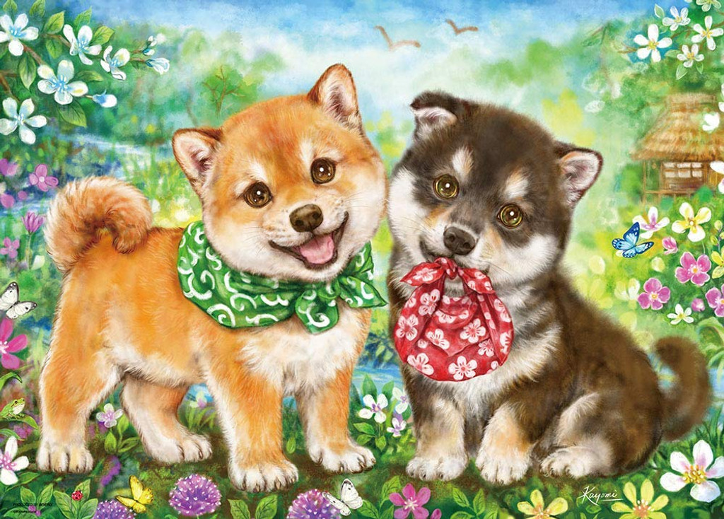 Beverly Jigsaw Puzzle 66-133 Japanese Shiba Puppies (600 Pieces)