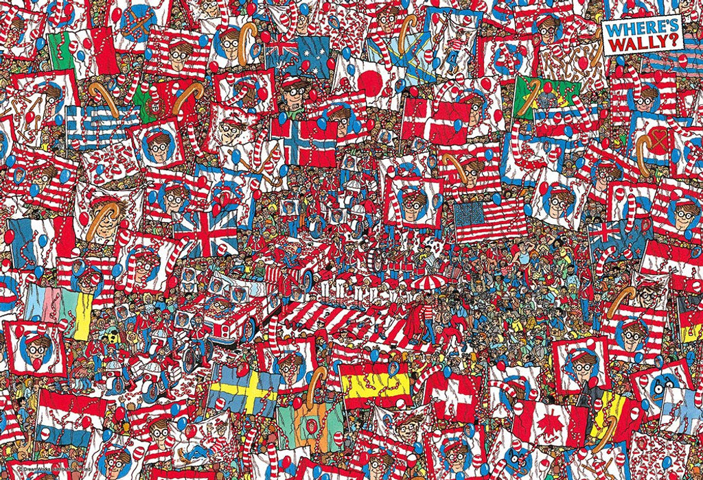 Beverly Jigsaw Puzzle M81-725 Where's Wally? Big Party (1000 S-Pieces)