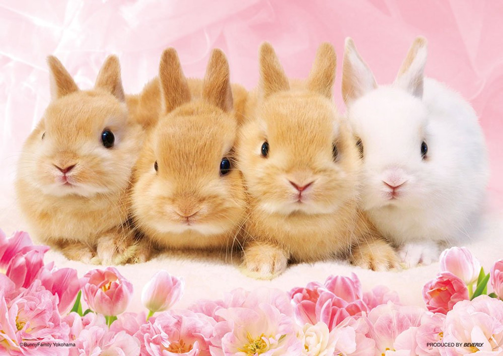 Beverly Jigsaw Puzzle P88-022 Baby Bunnies (88 L-Pieces)