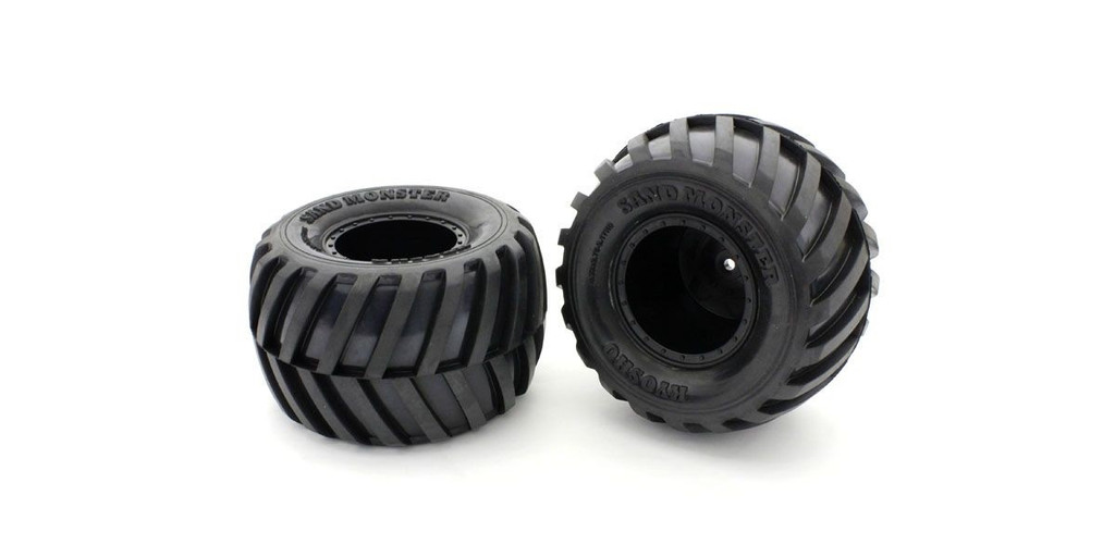 Kyosho EZTH001BKS GluedTire&Wheel(FZ-02L-BT/BK/Soft/2pcs)