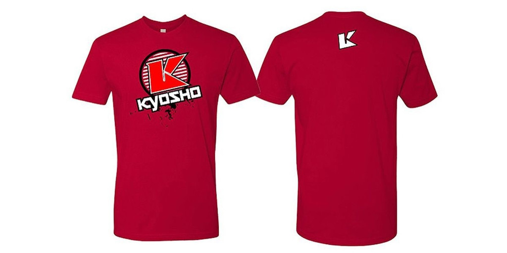 Kyosho 88008L K Circle Short Sleeve T-Shirt (Red/Size L)