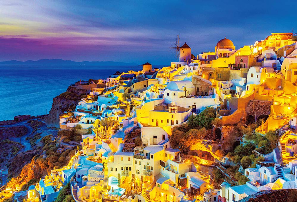 Beverly Jigsaw Puzzle S62-522 Twilight Santorini (2000 S-Pieces)
