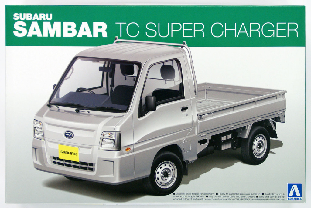 Aoshima 07372 Subaru SAMBAR Truck TC SUPER CHARGER 1/24 Scale Kit