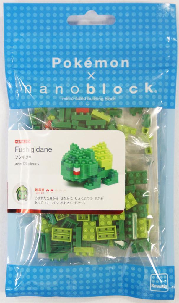 Kawada NBPM-003 nanoblock Pokemon Bulbasaur (Fushigidane)
