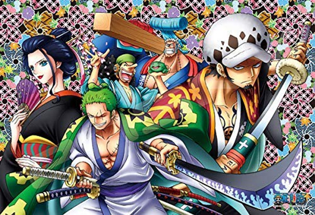 Ensky Art Crystal Jigsaw Puzzle 300-AC044 Japanese Anime One Piece Wano Country (300 Pieces)