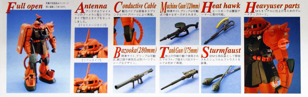 Bandai MG 482903 GUNDAM MS-06S Zaku II 1/100 scale kit