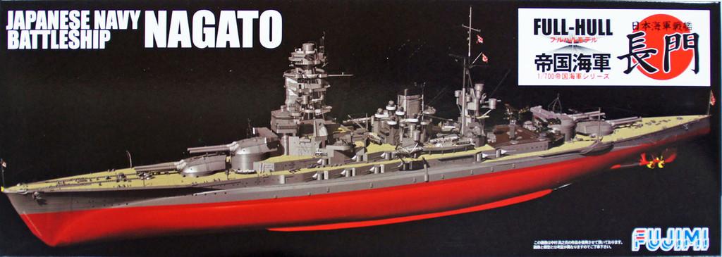 Fujimi FHSP-07 IJN BattleShip Nagato Full Hull Model with Etching Parts 1/700 Scale Kit