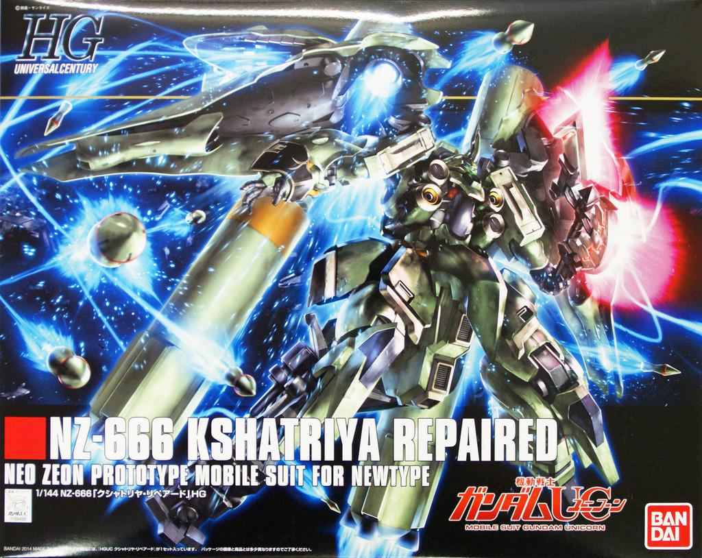 Bandai HGUC 179 Gundam NZ-666 KSHATRIYA REPAIRED UNICORN Gundam 1/144 Scale Kit